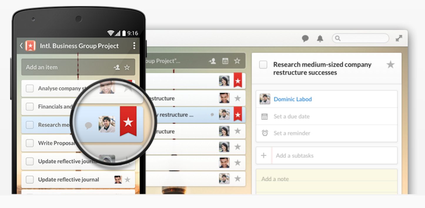 Test Wunderlist - panel